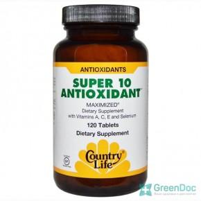 Super 10 Antioxidant Country Life 120 таблеток, супер антиоксидант