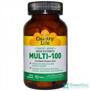 Multi-100 Country Life 90 таблеток