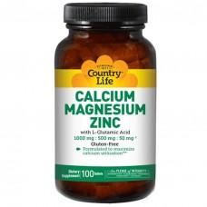 Кальцій магній цинк (Calcium, Magnesium, Zinc) Country Life 180 таблеток