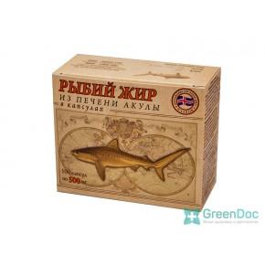 Рыбий жир из печени акулы, 100 капсул