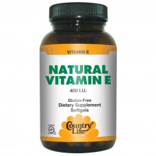 Natural Vitamin E Country Life 60 капсул