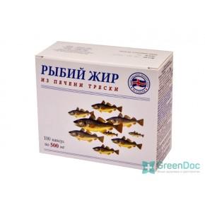 Риб'ячий жир з печінки тріски, 100 капсул