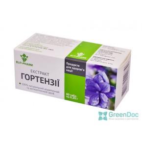 Экстракт Гортензии, Элит-фарм, 80 таблеток