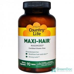 Maxi-Hair (витамины для волос) Country Life 90 таблеток