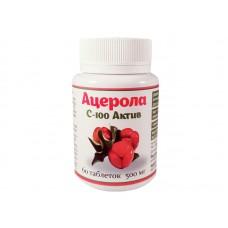 Ацерола С-100 актив, 60 таблеток, 500 мг, Витера