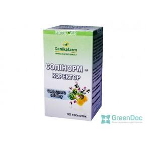 Солинорм – корректор солевого обмена, Даникафарм, 90 таблеток